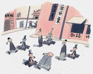 Sondermann fiel es anfangs schwer, sich an die chinesischen Sitten und Gebräuche anzupassen.